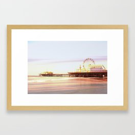 Santa Monica Pier Sunrise Framed Art Print