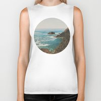 oregon Biker Tanks featuring Oregon Coast by Leah Flores