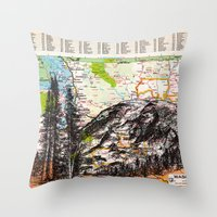washington Throw Pillows featuring Washington by Ursula Rodgers