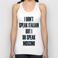 moschino Tank Tops featuring Moschino by cvrcak