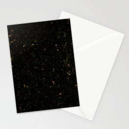 Gold Black Granite Marble Stationery Cards