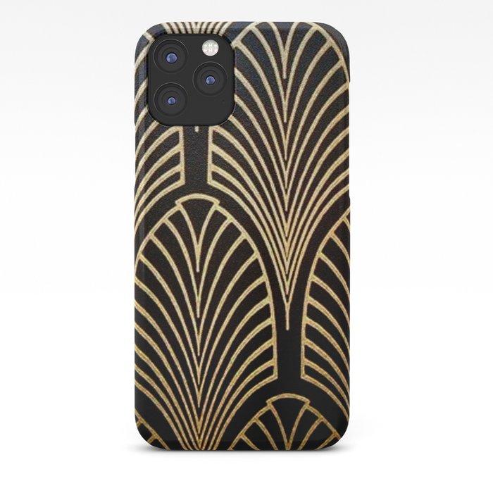 Art nouveau Black,bronze,gold,art deco,vintage,elegant,chic,belle époque iPhone Case
