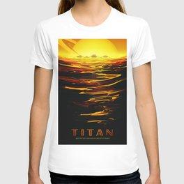 Titan : NASA Retro Solar System Travel Posters T-shirt