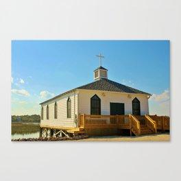 Chapel Over Pawleys Creek Canvas Print