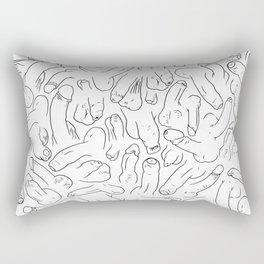 Penis Pattern Black Rectangular Pillow
