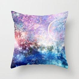 Fantasy space Throw Pillow