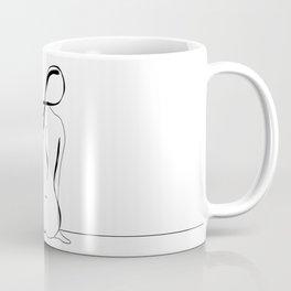 Woman Line Drawing Coffee Mug