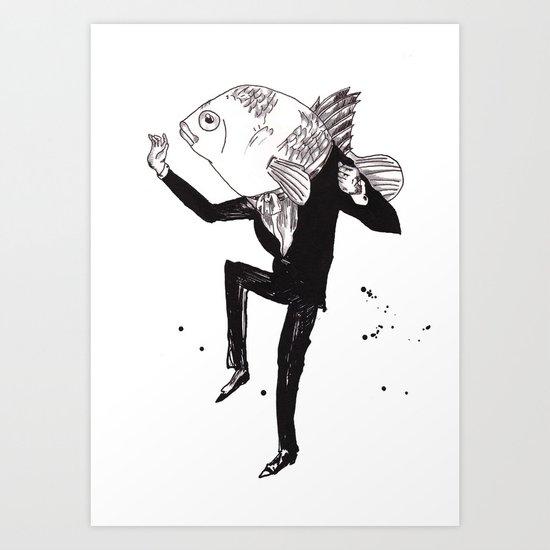 Gentleman Fish  Art Print