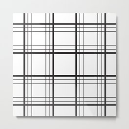 Checkered black and white classic pattern Metal Print
