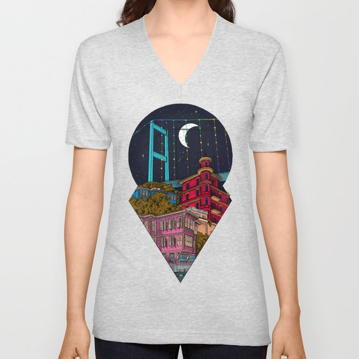 Night carries the lights Unisex V-Neck