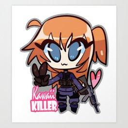 """Cs:go : sticker """"Kawaii killer ct"""" Art Print"""
