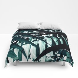 Inside of Palm Trees Comforters