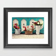 Vintage + Flowers  Framed Art Print