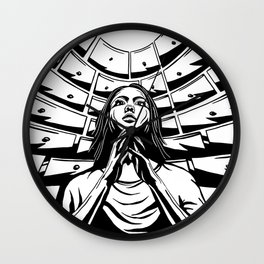 Soul Drawers BW Wall Clock