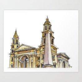 St Istvan Basilica Art Print