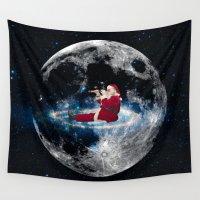 santa Wall Tapestries featuring Santa by Cs025