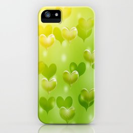 sweethearts green iPhone Case
