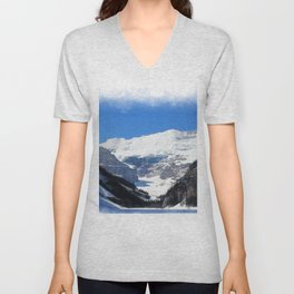 Lake Louise in Banff National Park Unisex V-Neck