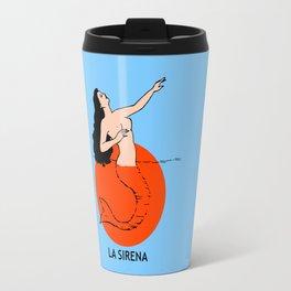 La Sirena Loteria - Mexican Bingo Card Travel Mug