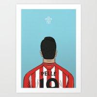 Graziano Pelle Football Back Southampton FC Art Print