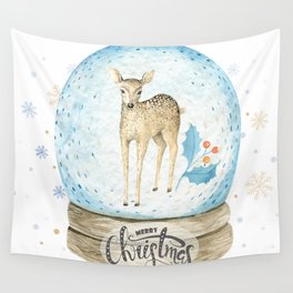 Christmas deer #2 Wall Tapestry
