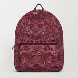 Deep Coral Terracotta Dimensional Pattern Backpack
