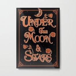 Under The Moon & Stars Metal Print