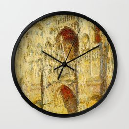 Claude Monet Rouen Cathedral Wall Clock
