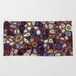Fractal Gems 01 - Fall Vibrant Beach Towel