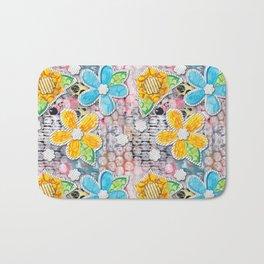 Paper Flower Power Bath Mat
