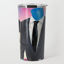 Plasticine man in a suit. Travel Mug