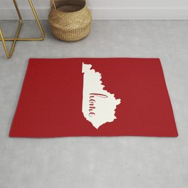 Kentucky is Home - Red on White Rug