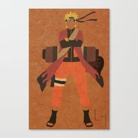 naruto Canvas Prints featuring Sage Naruto by JHTY