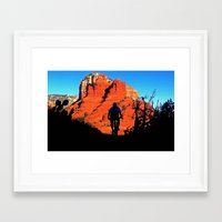 pivot Framed Art Prints featuring MOUNTAIN BIKE RIDING by Happy Holidays!