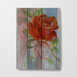Wood rose Metal Print