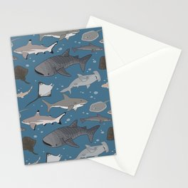 Sharks and Rays Stationery Cards
