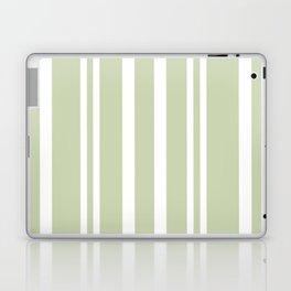 Plain Seafoam Green and White Stripes Design Laptop & iPad Skin