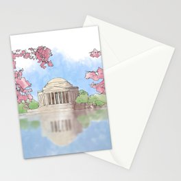 Cherry Blossom - Jefferson Memorial Stationery Cards