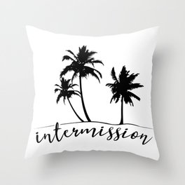 Intermission - On Holiday with Palm Trees Throw Pillow