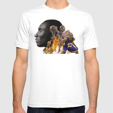The Black Mamba White MEDIUM Mens Fitted Tee