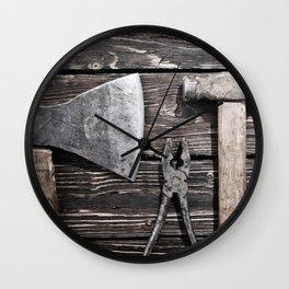 Old rusty tools Wall Clock