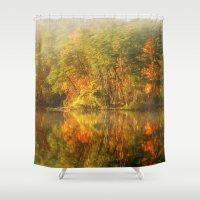 golden Shower Curtains featuring Golden by ThePhotoGuyDarren