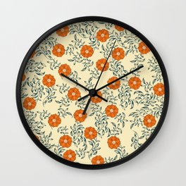 60s Floral Wall Clock