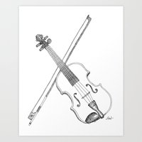 violin Art Prints featuring Violin by Thomas Hunt