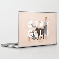 stay gold Laptop & iPad Skins featuring Stay Gold by Heather Landis
