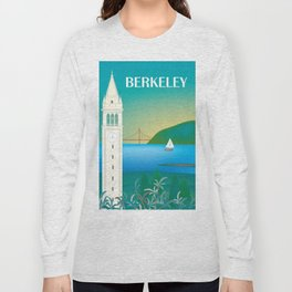 Berkeley, California - Skyline Illustration by Loose Petals Long Sleeve T-shirt