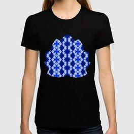 indigo shibori print T-shirt