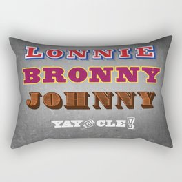 Lonnie, Bronny, Johnny Rectangular Pillow