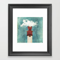 LOVE - Head in the Clouds Framed Art Print