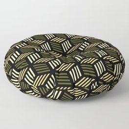 Cubic Olive Floor Pillow